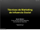 Técnicas de Marketing  de Influenci...