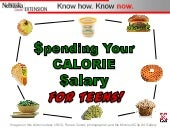 Spending Your Calorie Salary for Teens