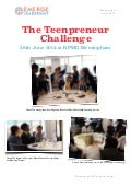 The Teenpreneur Challenge 2014 @ KPMG Birmingham, UK (review)