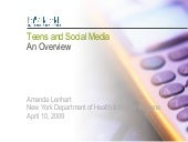 Teens&Social Media (PEW Report)