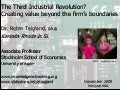 Third Industrial Revolution? Creating value beyond the firm's boundaries