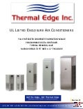 Thermal Edge UL Listed Enclosure ACs Brochure 2013