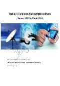 Telecom Subscription Data From January 2013 to March 2014