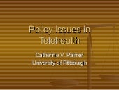 Telehealth policy issues