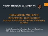 Telemedicine and health information...