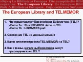 The European Library and the Europe...