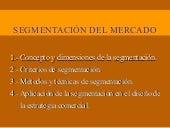 segmentación del mercado power point
