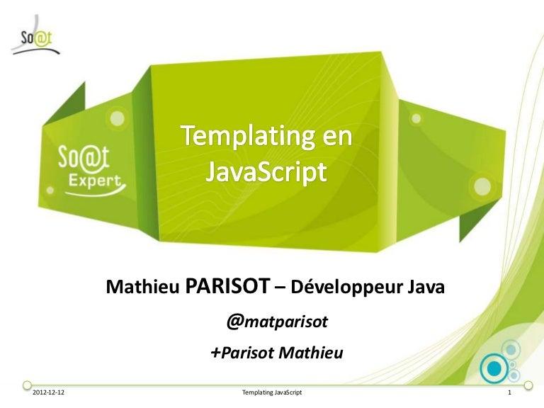 Le Templating en Javascript