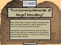 Ten commandments of Angel Investing