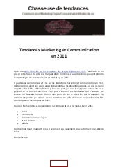 Tendances marketing et communicatio...