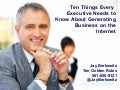 Ten Things Every CEO Needs To Know To Generate Business on the Internet 0509