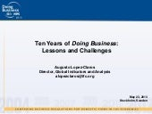 Ten Years of Doing Business