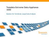 Teradata Extreme Data Applaince 1650