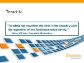 Teradata Data Warehouse and Data Ap...