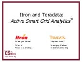 Itron and Teradata: Active Smart Gr...