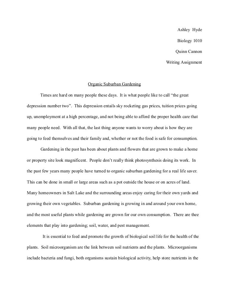 Term paper in biology