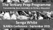 The Tertiary Prep Programme Presentation