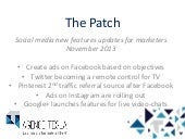 The Patch, Nov. 2013: less privacy,...