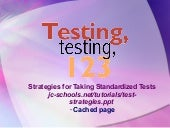 Test strategies power point