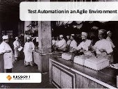 Test automation in an agile environment