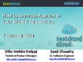 Testdroid: How to Leverage Appium in Your Mobile App Testing