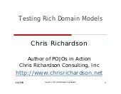 Testing Rich Domain Models