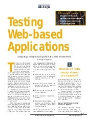 Testing Web Based Applications[1]