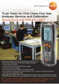 Testo - FGA Service and Calibration