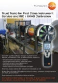 Testo - ISO/UKAS Service and Calibration