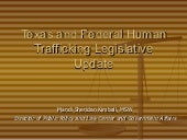 Texas and federal human trafficking...