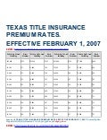 Texas title insurance premium rates as of 7 25-11 (1)