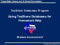 TexShare Homework Help Assessment