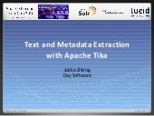 Text and metadata extraction with Apache Tika