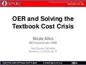 OER and Solving the Textbook Cost C...