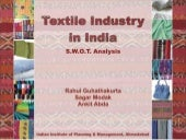 Textile industry-in-india-a-swot-an...