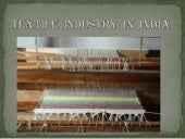 Textile  industry  in  india (aliya...