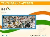 India : Textiles and apparel Sector...