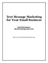 Text message marketingx