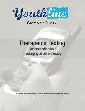 Text Messaging As E-Therapy