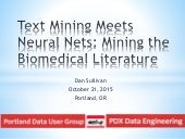 Text mining meets neural nets