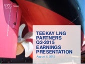TEEKAY LNG PARTNERS Q2-2015 EARNINGS PRESENTATION
