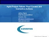 Agile Project Failures: Root Causes and Corrective Actions