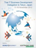 Thai IT Business Development Delegation to Tokyo, Japan: November 2012