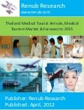 Thailand medical tourist arrivals, medical tourism market & forecast 2015