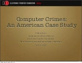Computer Crimes: An American Case S...
