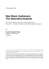 New Music Audiences: The Generative...
