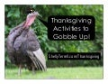 Thanksgiving Activities & Resources to Gobble Up