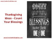Thanksgiving Ideas - Count Your Blessings
