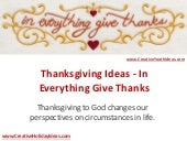 Thanksgiving Ideas - In Everything Give Thanks