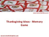 Thanksgiving Ideas - Memory Game